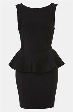 Topshop Peplum Dress (Petite) | Nordstrom