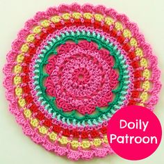 Beautiful Mandala, but the instructions are in DUTCH! Crochet Mandala Pattern, Crochet Doily Patterns, Crochet Doilies, Crochet Flowers, Knitting Patterns, Crochet Round, Crochet Home, Love Crochet, Diy Crochet