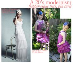 Ses Petites Mains Zelda dress & Peony Blossom; Collette Dinnigan Maribelle dress, photo courtesy Martha Stewart Wedding.