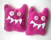 Rice Filled Microwavable Hand Warmer Pink Devils