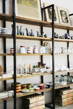 LOVE this shelving idea... I wonder if i could make it myself...