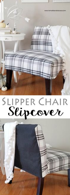 Give Slipper Chairs A New Look With An EASY Slipcover!