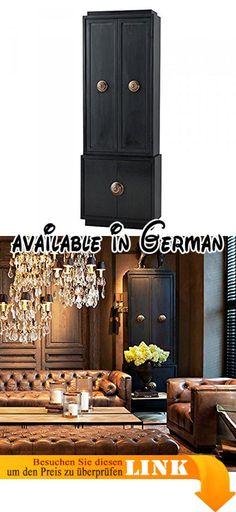 B01IMRMS8Y  Casa Padrino Luxus Wohnzimmer Schrankwand Schwarz - wohnzimmer schwarz rot weiss