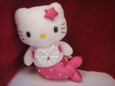 Hello Kitty Cat Plush Stuffed Doll Mermaid 8