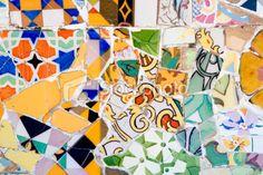 Antoni Gaudi mosaic/Parc Guell/Barcelona
