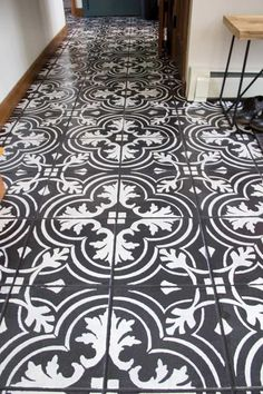 34 DIY Flooring Projects That Will Transform Your Home DIY Flooring Projects - Faux Cement Tile Painted Floors - Cheap Floor Ideas for Those On A Budget - Inexpensive Ways To . Painting Cement, Painting Tile Floors, Painted Floors, Diy Painting, Stenciled Tile Floor, Tile Floor Diy, Floor Stencil, Diy Flooring, Kitchen Flooring