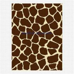 Giraffe animal print crochet afghan pattern graph