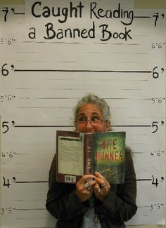 """Love this idea!! Instead of """"banned,"""" just have students line up with their favorite book."""