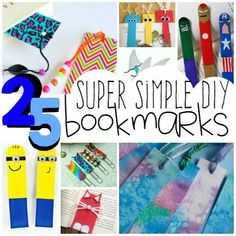 25 diy bookmarks for kids bookmarks diy kids, homemade bookmarks, Bookmarks Diy Kids, Homemade Bookmarks, Bookmark Craft, How To Make Bookmarks, Bookmark Ideas, Diy Kid Crafts For Boys, Craft Activities For Kids, Toddler Crafts, Diy Crafts For Kids