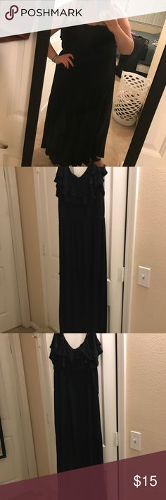 Forever 21+ Black Maxi Dress Forever 21+ Black Maxi Dress in size 1X. Gently worn and in great condition. Super soft cotton and very flattering. Forever 21 Dresses Maxi