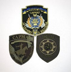 "PATCH UKRAINIAN ARMY: ""SARMAT"" BATTALION SPECIAL FORCES SWAT SET 3* UKRAINE WAR"