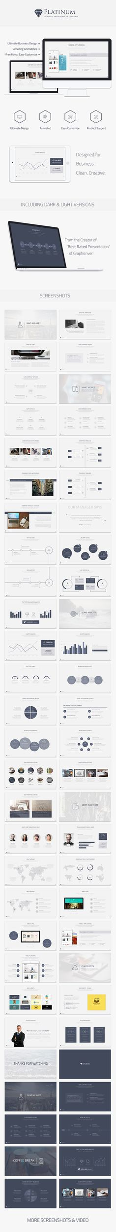 Platinum Business Keynote Template — Keynote KEY #vigitalart #light keynote template • Available here → https://graphicriver.net/item/platinum-business-keynote-template/10021604?ref=pxcr