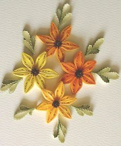 quilled fall leaves | eccrafts.co.uk -