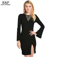 Find More Dresses Information about KASY Spring Summer Ladies Flare Sleeve Knitting Cotton Mini Dress Solid Bandage Backless Fashion Dresses Split Knitting Vestidos,High Quality Dresses from Kasy Apparel on Aliexpress.com