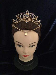 Gold and Lilac Headpiece