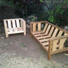 outdoor sofa plans.  sloped backrest