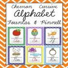 Cursive Chevron Alphabet Letter Sound Set