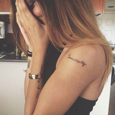50 Small Tattoo Placement Ideas.. my fav word and i love the font