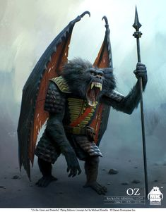 Oz - Flying Baboon Concept by michaelkutsche.deviantart.com on @deviantART