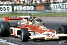 Znalezione obrazy dla zapytania Tony Trimmer (Melchester Racing) McLaren M23 - Ford