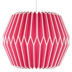 Pink Paper Lampshade