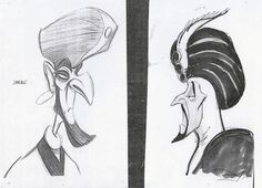 early design of Jafar by Andreas Deja
