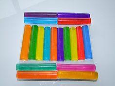 DIY bathtub soap crayons