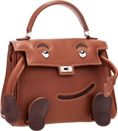Hermès Limited Edition Noisette Gulliver Leather Quelle Idole Kelly Doll Bag