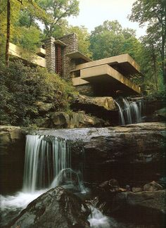 Frank Lloyd Wright 'Fallingwater' house built in 1934