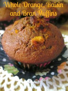 Hot and Cold Running Mom - Just my Stuff: Whole Orange Raisin and Bran Muffins Muffin Recipes, Brunch Recipes, Sweet Recipes, Baking Recipes, Dessert Recipes, Xmas Recipes, Desserts, Date Muffins, Breakfast Muffins