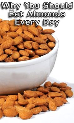 Why You Should Eat Almonds Every Day http://fitering.com/eat-almonds-every-day/