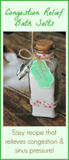 Congestion Relief Bath Salts Recipe (relieves congestion & sinus pressure!) | Primally Inspired