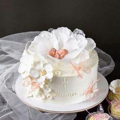 Cake Decorating With Fondant, Ballerina Cakes, Dessert Decoration, Baby Party, Mini Cakes, Baby Shower Cakes, Cake Designs, Amazing Cakes, Christening