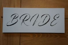 White Bride and Groom Signs - Wooden - Wedding Plaques - Handmade - Optional Ribbon Strung by WoodAlwaysWorks on Etsy