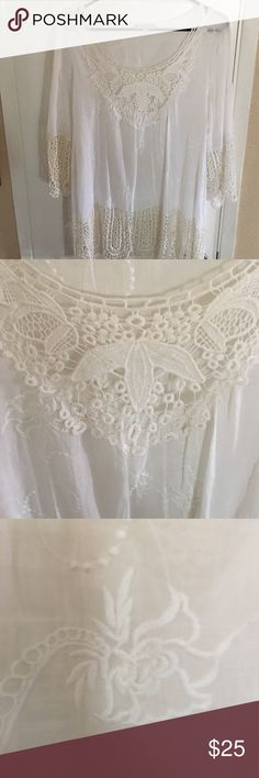 White Eyelet Embroidered Laced Blouse White Tied Blouse Sorrento Tops Blouses