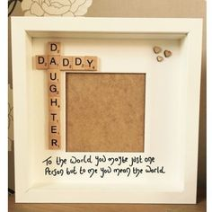 New dad/ first daughter/ Father's Day Scrabble tile gift Daddy Daughter Dance, Father Daughter Pictures, Bff, Besties, Bestfriends, Super Mom, Friendship Pictures, Tattoo Ideas, Romance Novels