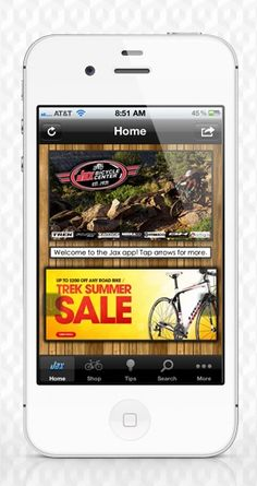 App design for Jax Bicycle Center #apps