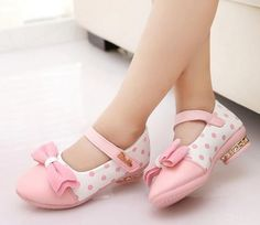 Pink Shoes for Girls Pink Polka Dots Shoes