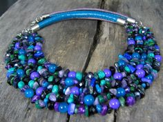 Multi strand colorful necklace Multi strand necklace with