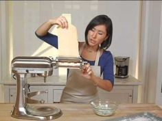 Discover the joy of fresh homemade fettuccine. The product featured in this video can be purchased at Williams-Sonoma: http://www.williams-sonoma.com/product... Find out how you can easily acquire the best kitchen stand mixer for your kitchen at http://www.smallappliancesforkitchen.net