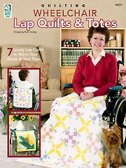 All persons confined to chairs or wheelchairs benefit from a bright lift in their daily lives. Ruth Swasey has designed 7 colorful and appealing, morale-boosting lap quilts that are sure to brighten anyone's day! Two of the quilts have matching bag p. Lap Quilt Patterns, Sewing Patterns, Block Patterns, Bag Patterns, Sewing Ideas, Print Patterns, Lap Quilts, Quilt Blocks, Small Quilts