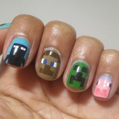 Minecraft nail!!?!??!? I want those so so so so so bad!!!!!!!! I love minecraft