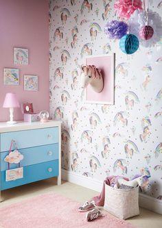 Arthouse Imagine Wallpaper | Rainbow Unicorn White | 696109