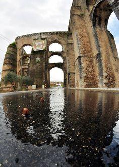 Aqueduto da Amoreira, em Elvas - PORTUGAL