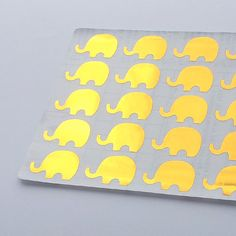 This listing is for 40 Metallic Gold Elephant stickers. These cute stickers are great for birthdays, planners, parties, holidays, baby showers,