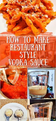 Learn how to make restaurant-style vodka sauce at home. Once you learn the proportions and process, you can make this classic pasta sauce any time! Quick Pasta Recipes, Pasta Sauce Recipes, Easy Meat Recipes, Easy Casserole Recipes, Cooking Recipes, Homemade Vodka Sauce, Vodka Sauce Pasta, How To Make Vodka, Italian Pasta