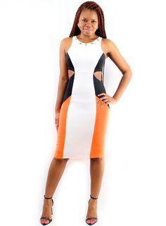 Neon Color Block Dress