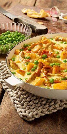 Noch immer auf der Suche nach einem tollen Rezept? Wie wäre es dann mit einem Putengeschnetzelten mit Kürbis und Curry?