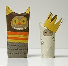 Reciclar Rolos de Papel Higiénico // toilet paper tube wild things