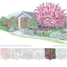 Landscape Gardeners Are Like Outside Decorators! A Welcome Destination Garden Gate Enotes Outdoor Landscaping, Front Yard Landscaping, Backyard Landscaping, Landscape Plans, Landscape Design, Garden Design, Flowering Crabapple, House Plant Care, Big Leaves